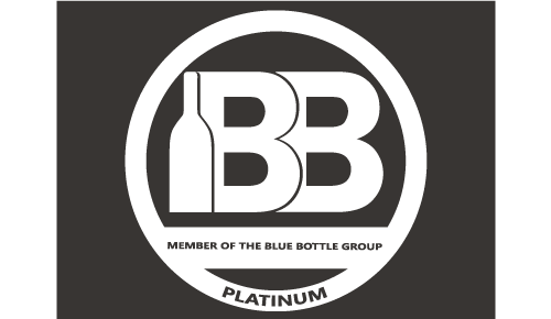 Blue Bottle Platinum Logo
